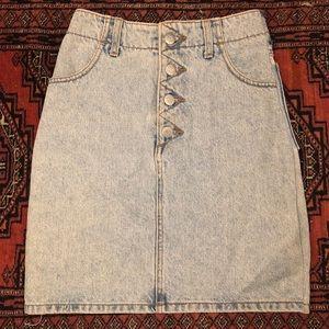 Vintage Guess jean denim high waist skirt 0 xs xxs